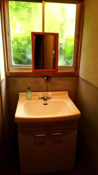 ゲストハウスしましまの洗面所