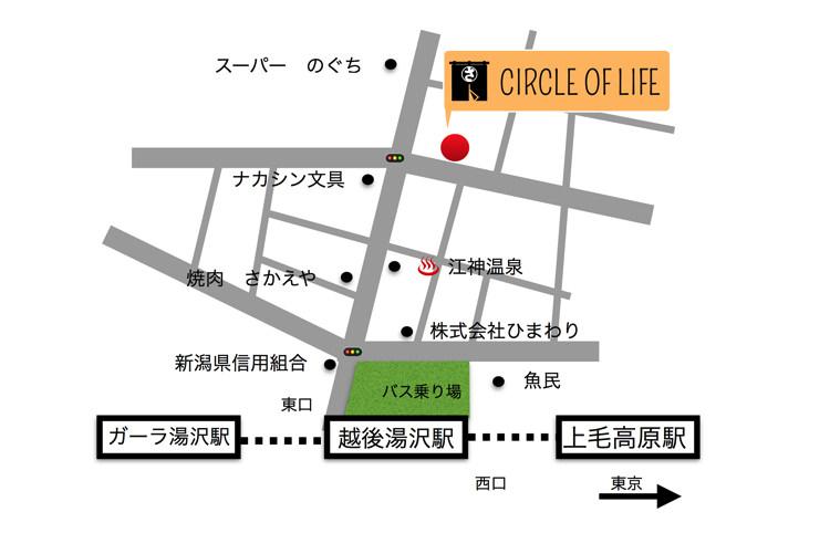 CIRCLE OF LIFEの地図