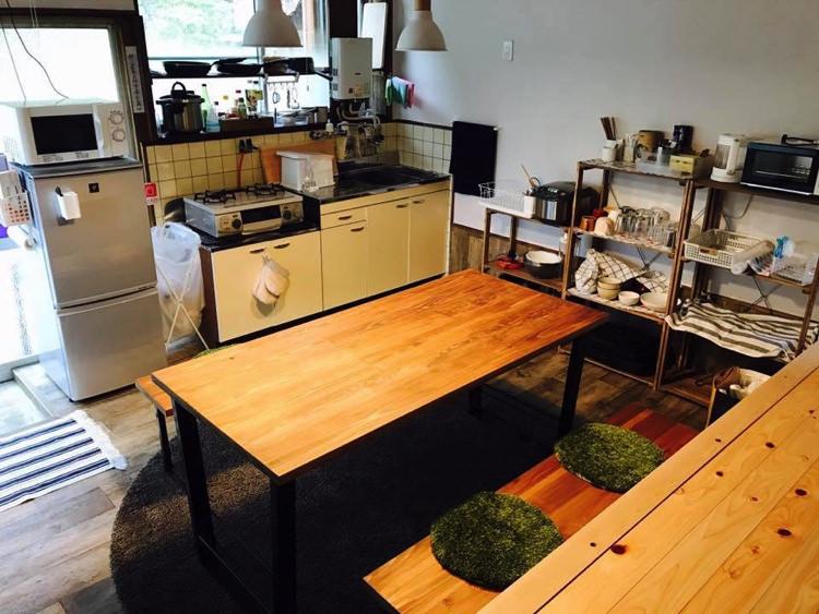 ゲストハウス40010の共有スペース