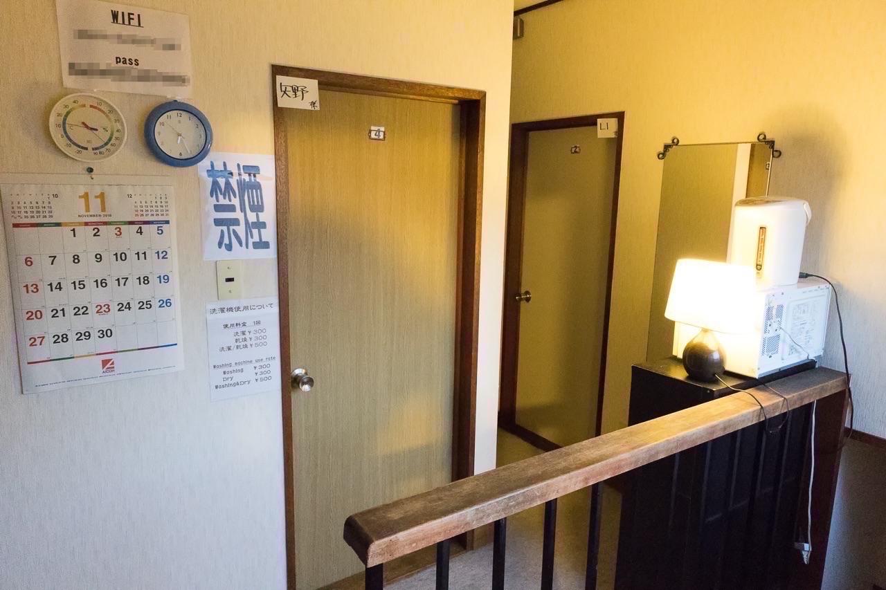 ゲストハウス函館サザン2階の廊下