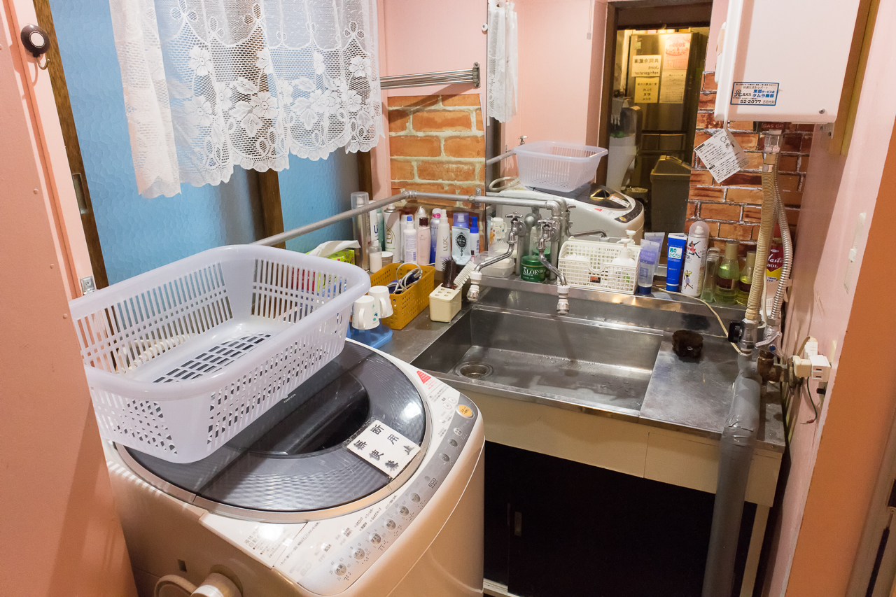 ゲストハウス函館サザンの洗面所