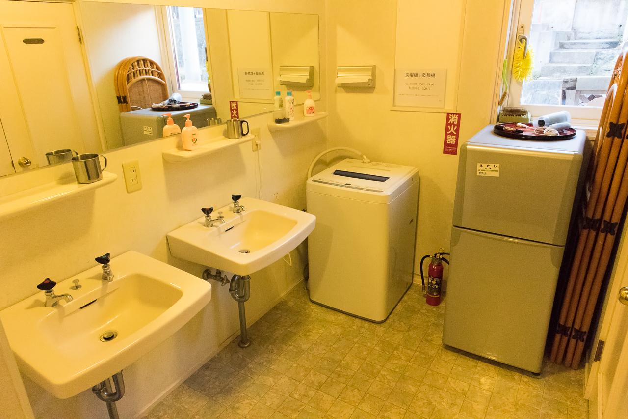 谷地頭ゲストハウスの洗面所
