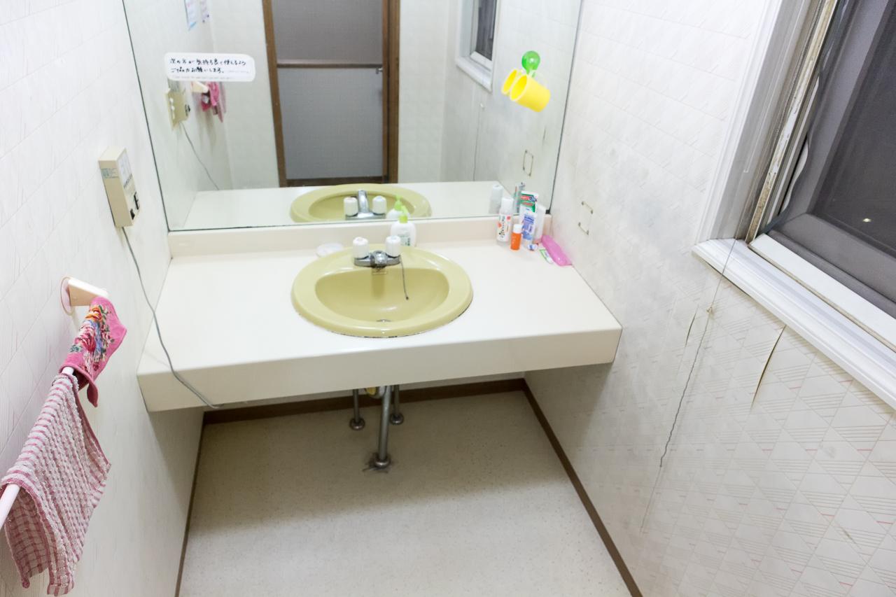 ドミトリーシルシルの洗面所