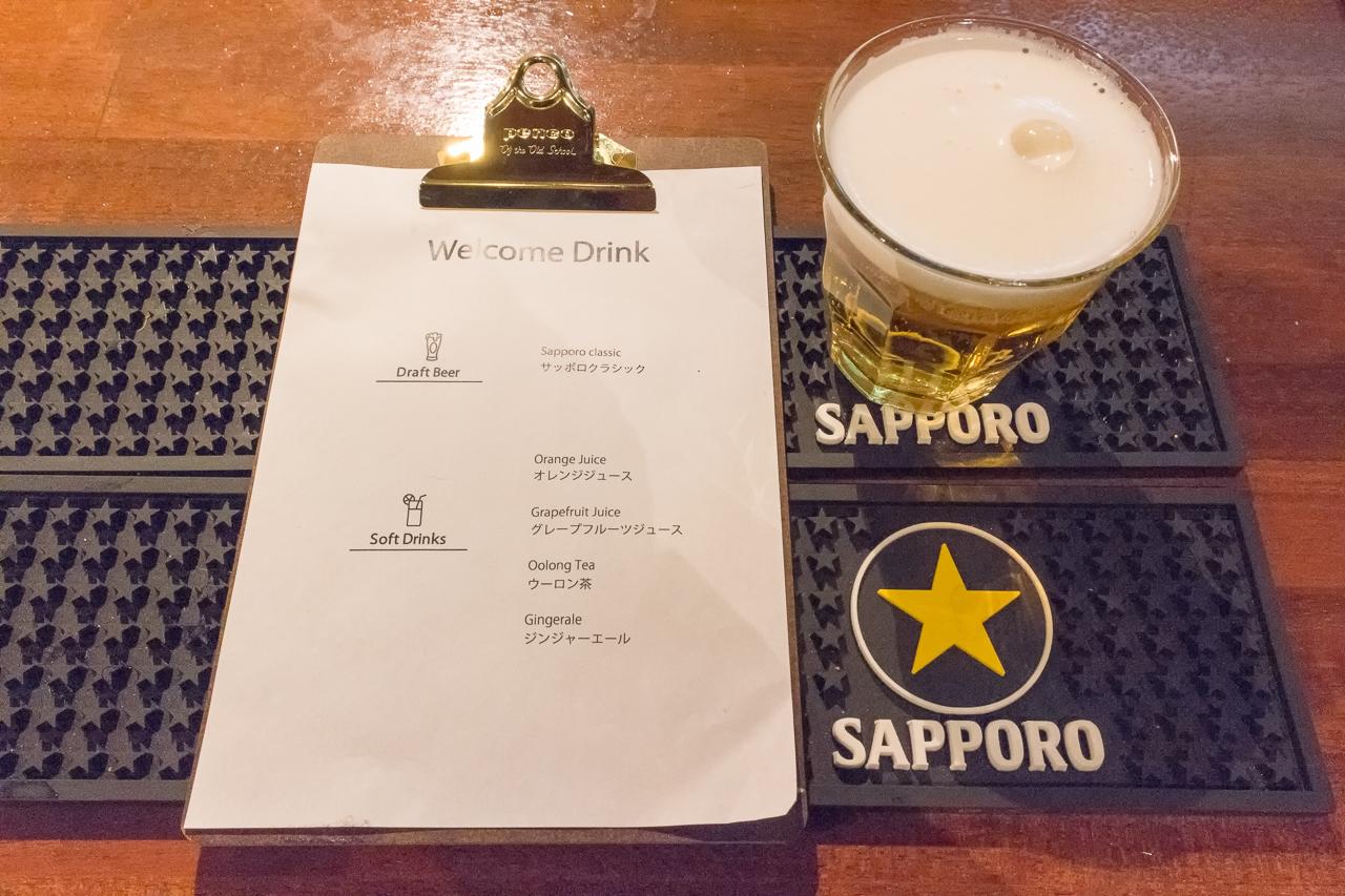 Ten to Ten SAPPORO STATION・フリードリンクメニューとサッポロクラシック