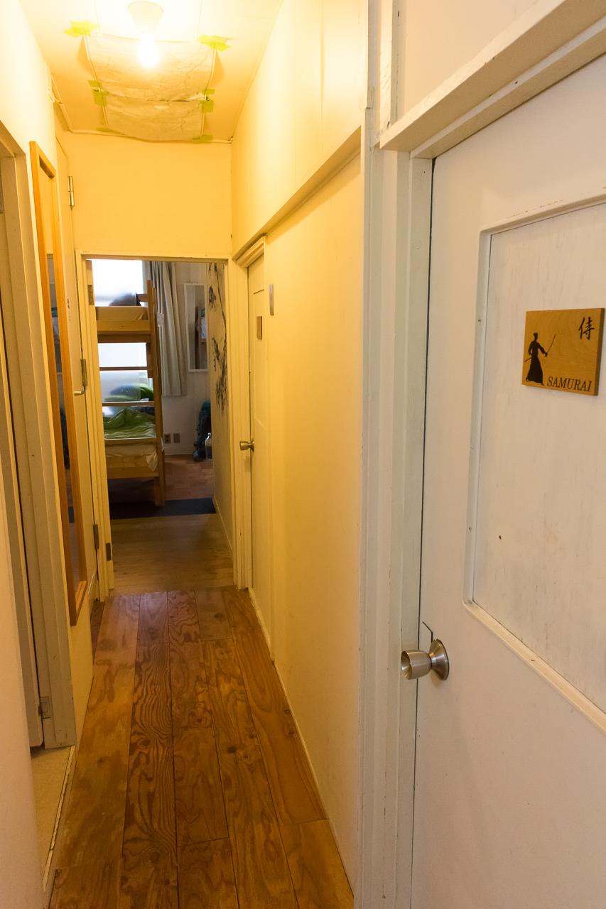 やどやゲストハウス グリーン2階の廊下
