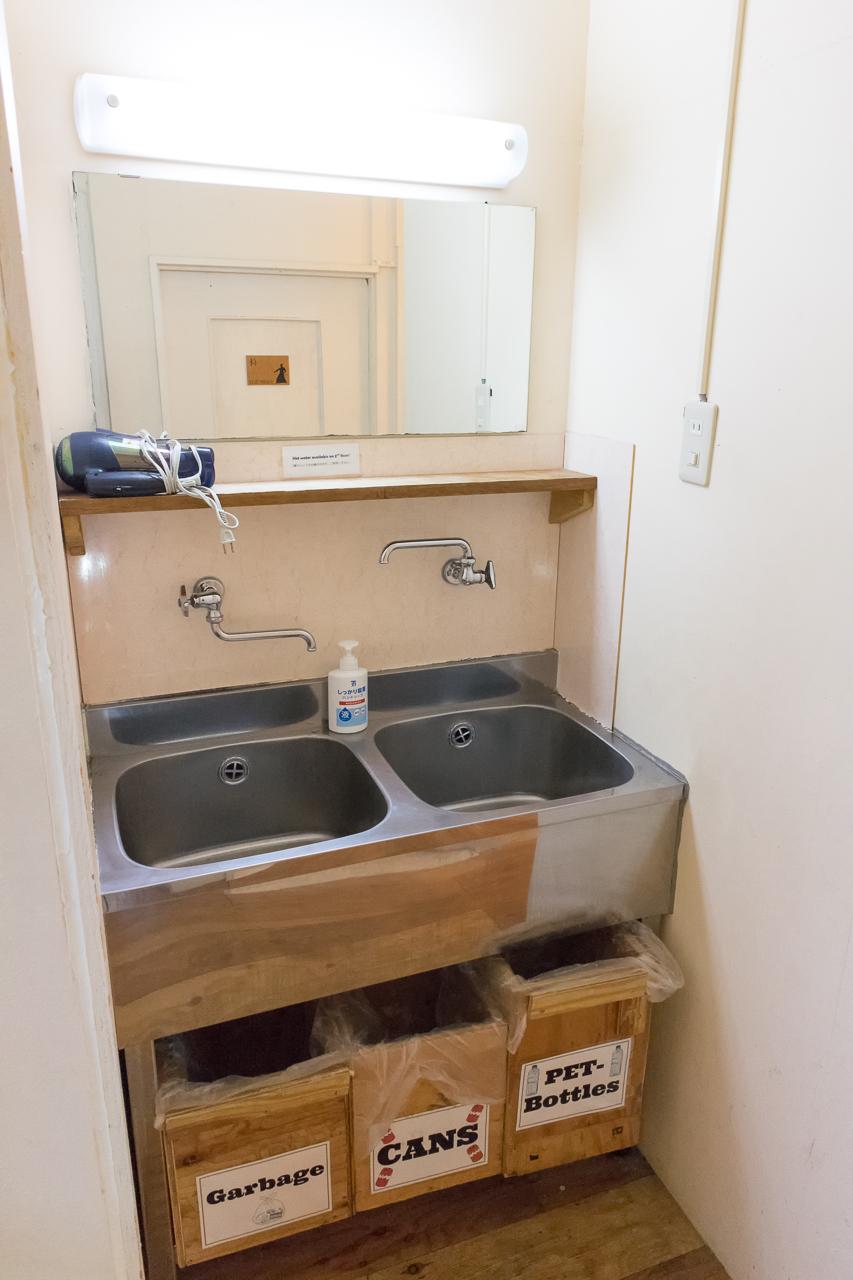 やどやゲストハウス グリーン・2階の洗面所