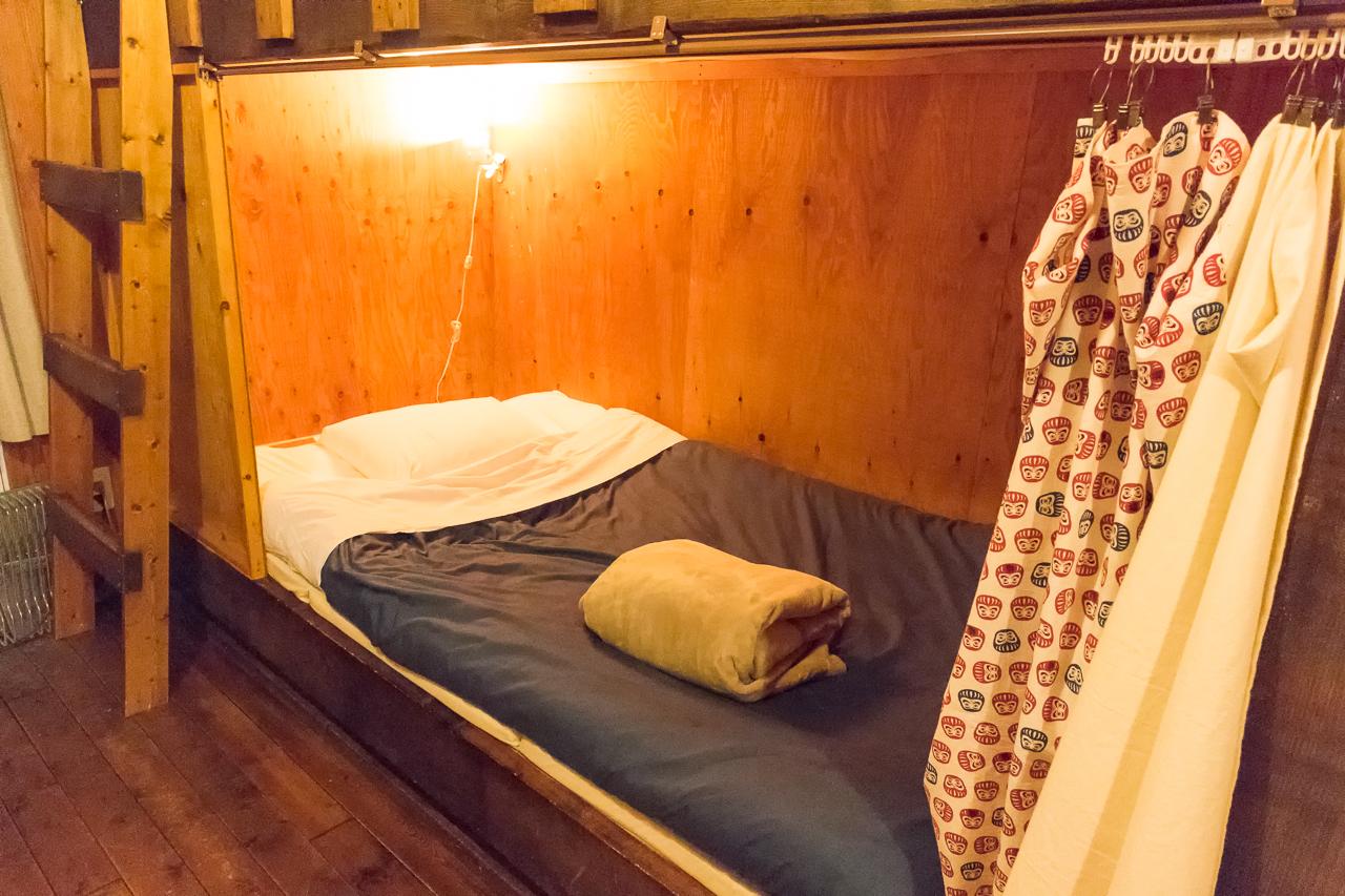 札幌ゲストハウスwaya(ワヤ)ベッド