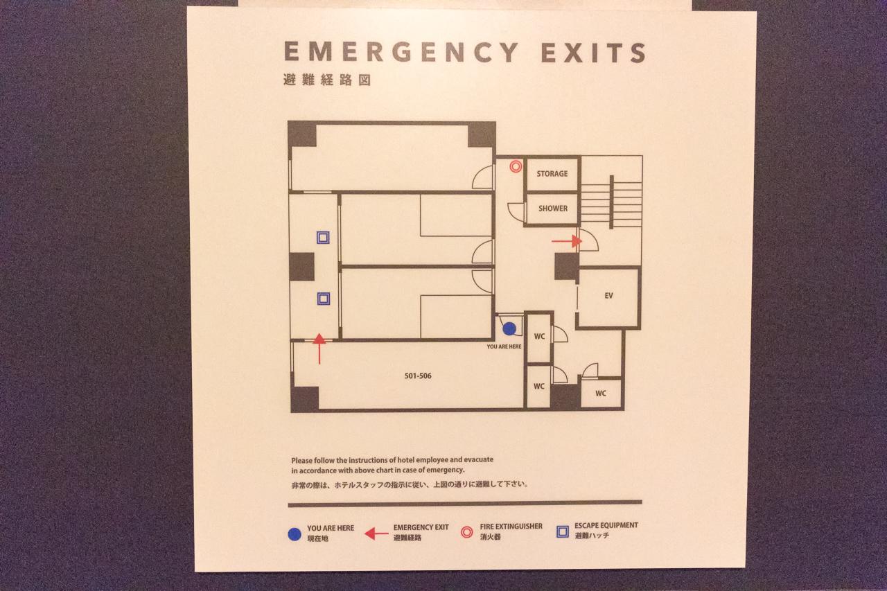 IMANO TOKYO GINZA HOSTEL5階の構成図