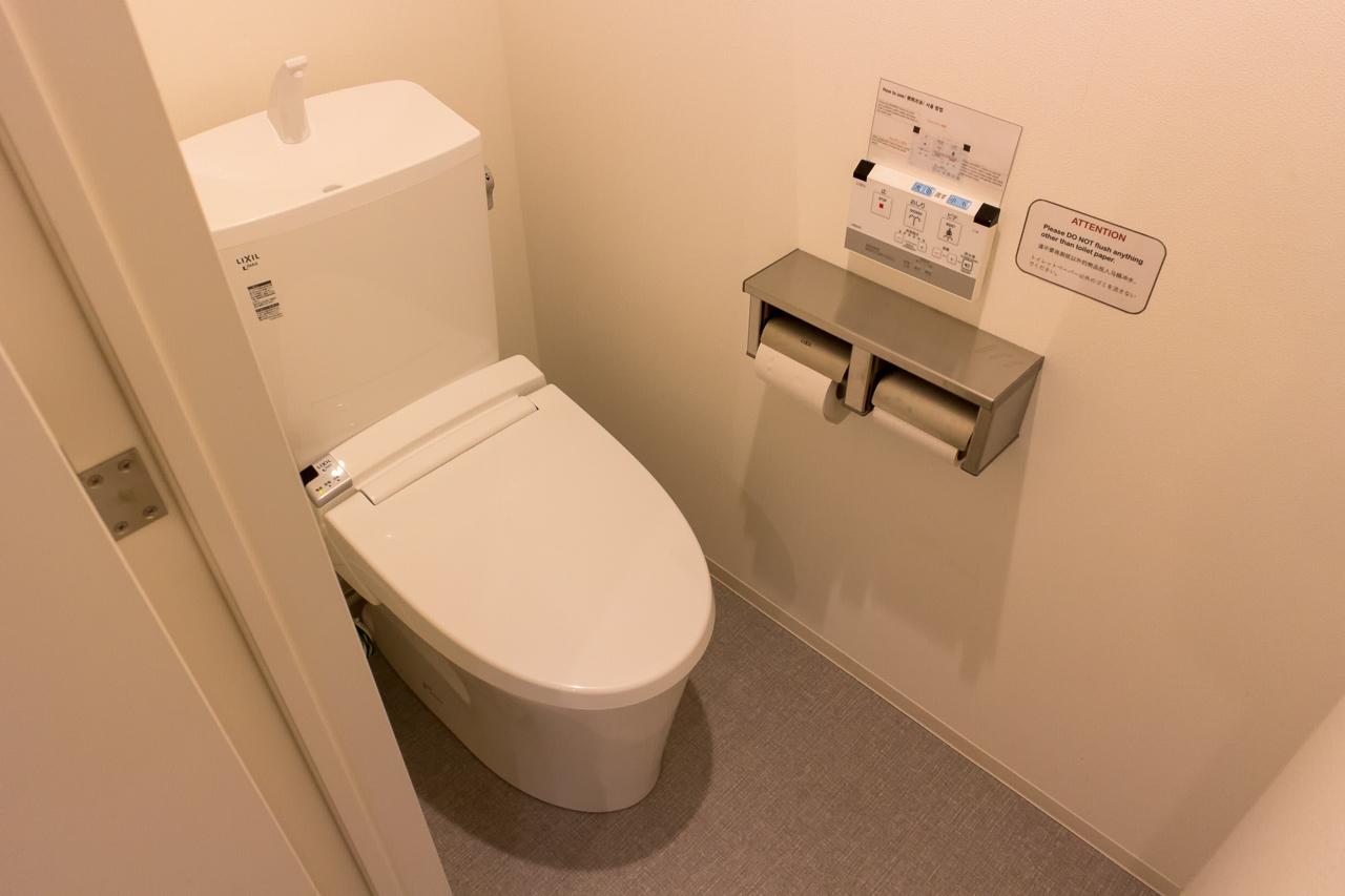 IMANO TOKYO GINZA HOSTELトイレの様子