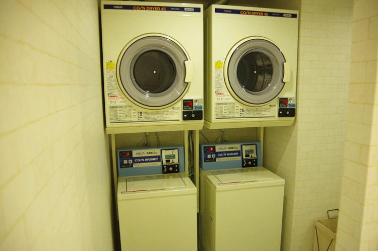 ゲストハウスわさび大阪 Bed and Libraryの洗濯機