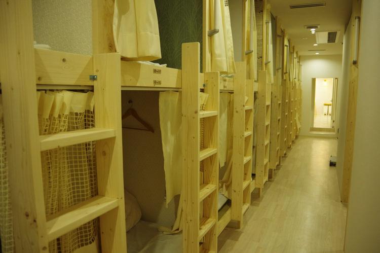 ゲストハウスわさび大阪 Bed and Libraryの宿泊部屋